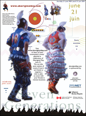 Pro-bono magazine ad for National Aboriginal Day